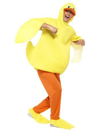Duck Costume, with Bodysuit, Trousers, Yellow