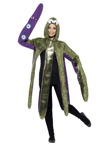 Octopus Costume, Foam Bonded, Purple