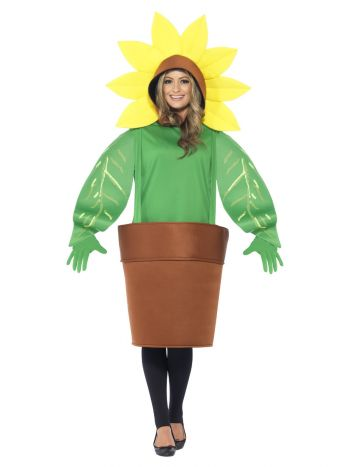 Sunflower Costume, with Top with Attached Hood, Gr