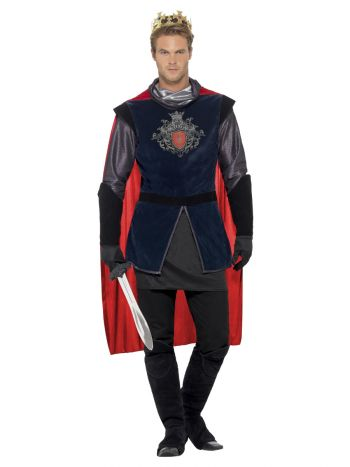 Deluxe King Arthur Costume, Black