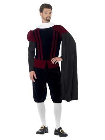 Deluxe Tudor Lord Costume, Black