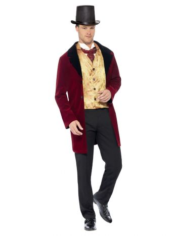 Deluxe Edwardian Gent Costume, Red