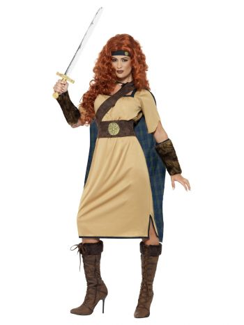 Deluxe Warrior Queen Costume, Beige