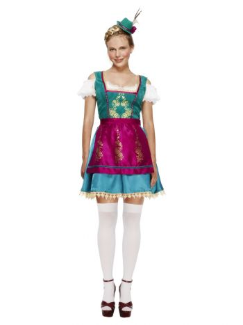 Fever Deluxe Dirndl Costume, Blue