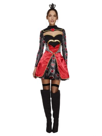 Fever Queen Of Hearts Costume, Black