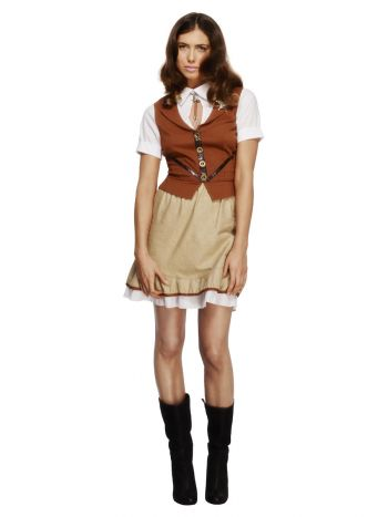 Fever Sheriff Costume, with Waistcoat, Brown