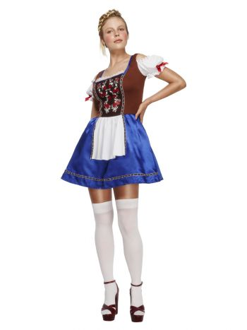 Fever Dirndl Costume, Blue