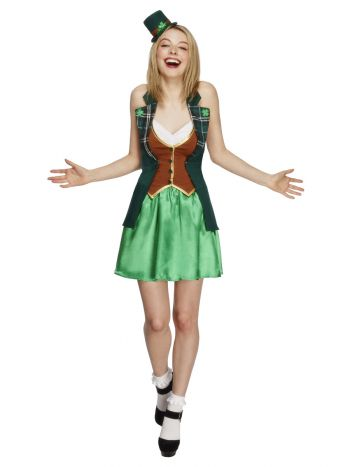 Fever St Patricks Costume, with Jacket, Green