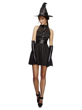 Fever Bewitching Vixen Costume, Black