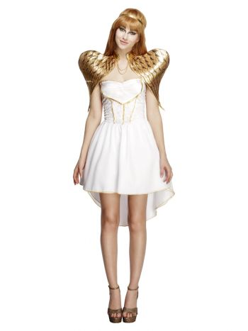 Fever Glamorous Angel Costume, with Dress, White