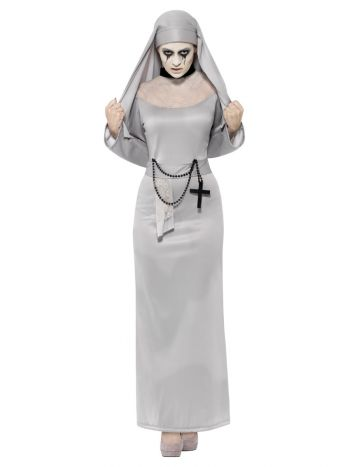 Gothic Nun Costume, Grey
