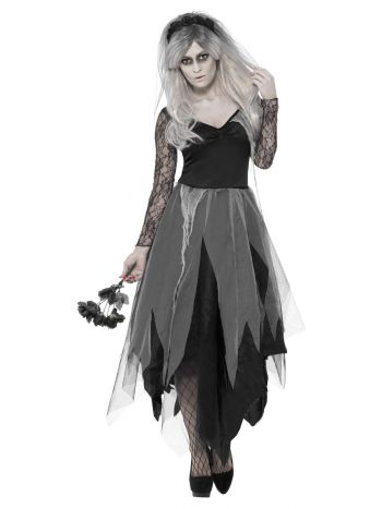 Graveyard Bride Costume, Black