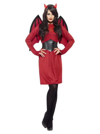 Economy Devil Costume, Red