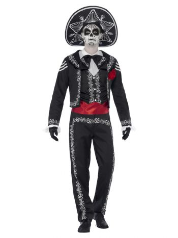 Day of the Dead Señor Bones Costume, Black