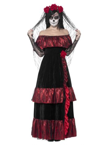 Day of the Dead Bride Costume, Black