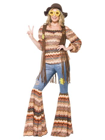 Harmony Hippie Costume, Multi-Coloured
