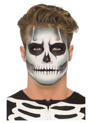 Smiffys Make-Up FX, GID Skeleton Kit, Grease, Blac