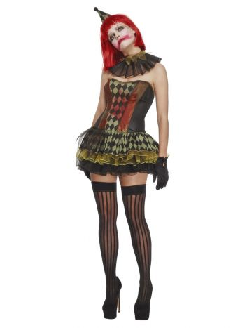 Fever Creepy Zombie Clown, Black