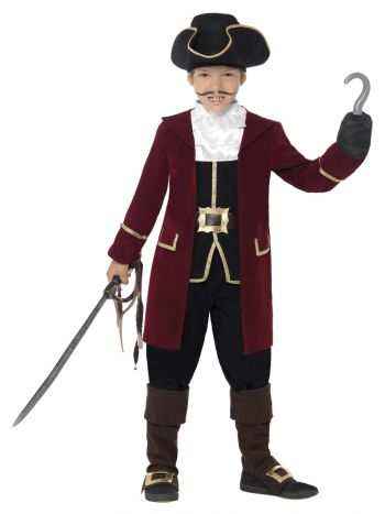 Deluxe Pirate Captain Costume, Black