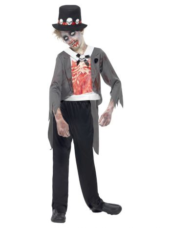 Zombie Groom Costume, Black