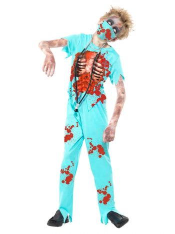 Zombie Surgeon Costume, Blue