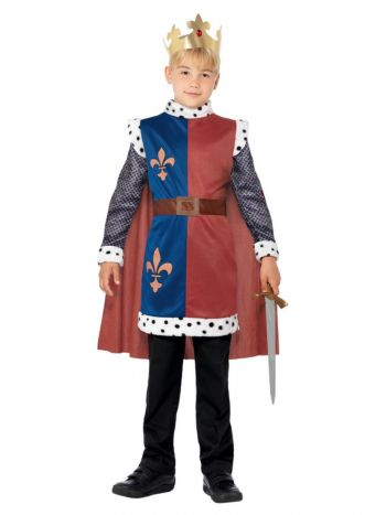 King Arthur Medieval Costume, Red