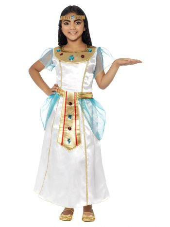 Deluxe Cleopatra Girl Costume, White