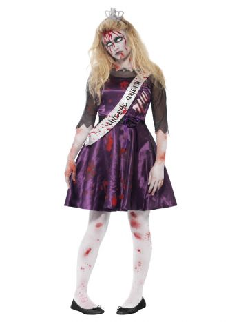 Zombie Prom Queen Costume, Purple