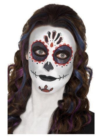 Smiffys Make-Up FX, Day of the Dead Kit, Aqua,