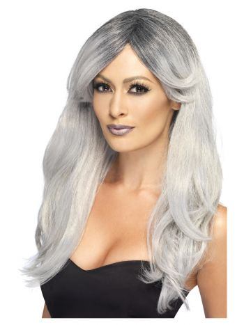 Ghostly Glamour Wig, Grey