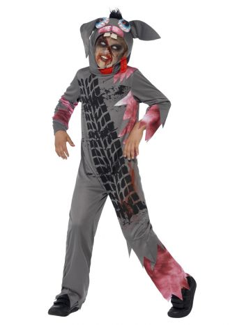 Deluxe Roadkill Pet Costume, Grey