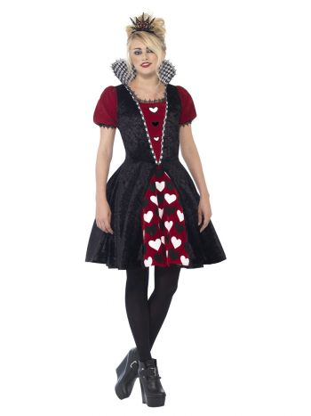 Deluxe Dark Red Queen Costume, Black