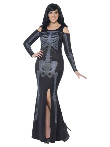Curves Skeleton Costume, Black