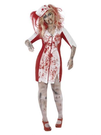 Curves Zombie Nurse Costume, White