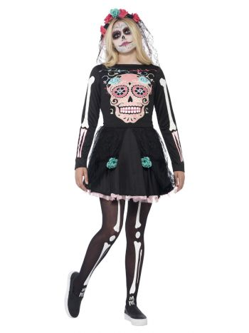 Sugar Skull Sweetie Costume, Black