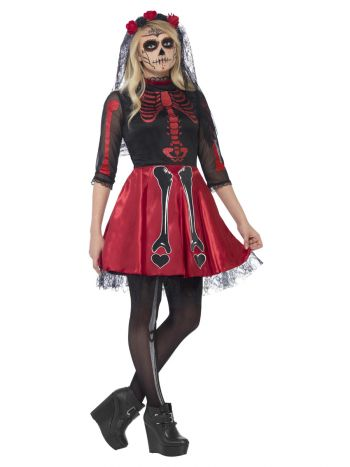 Day Of The Dead Diva Costume, Black
