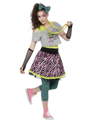 80s Wild Child Costume, Multi-Coloured