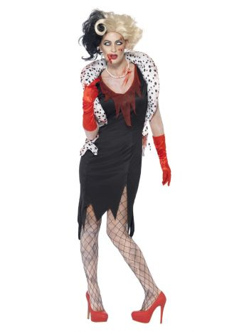 Zombie Evil Madame Costume, Black