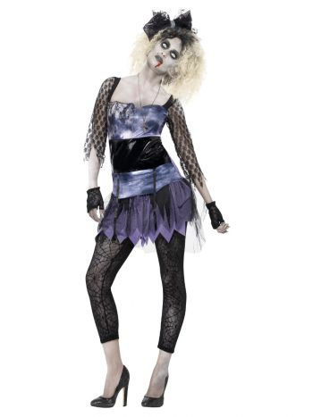 Zombie 80s Wild Child Costume, Black
