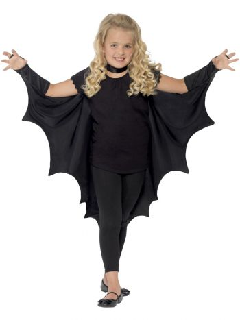 Kids Vampire Bat Wings, Black