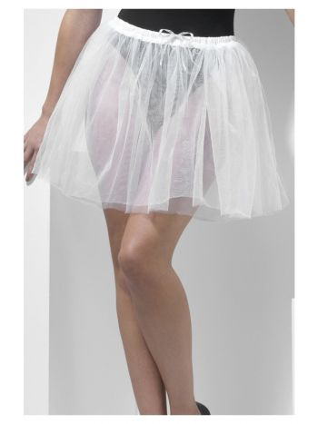 Petticoat Underskirt, Longer Length 34cm, White