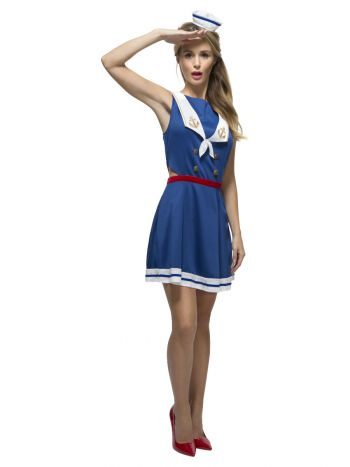 Fever Hey Sailor Costume, Blue