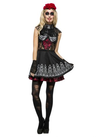 Fever Day of the Dead Costume, Black