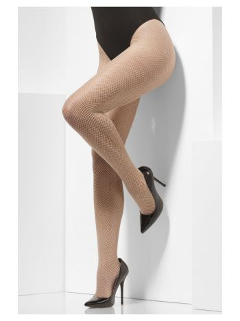 Fishnet Tights, Nude
