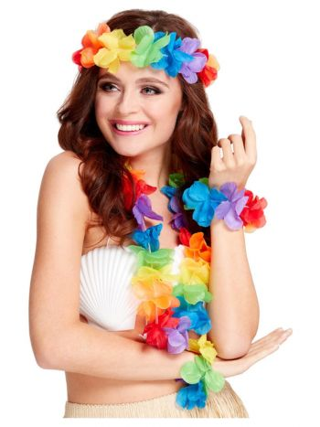 Rainbow Hawaiian Set, Multi-Coloured