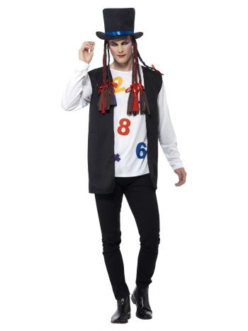 80s Pop Star Costume, Multi-Coloured