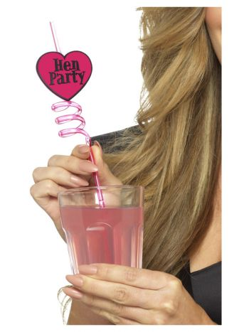 Hen Party Drinking Straws, Pink