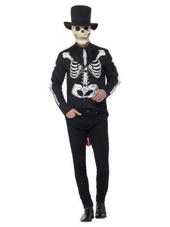 Day of the Dead Se±or Skeleton Costume, Black