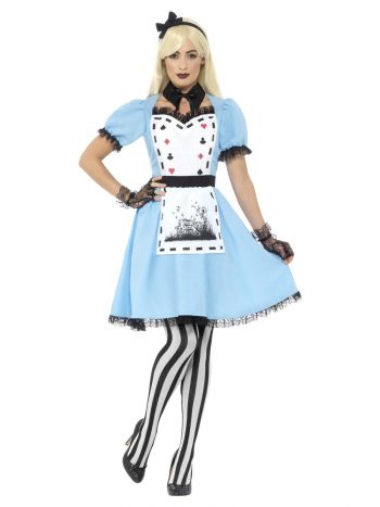 Deluxe Dark Tea Party Costume, with Dress, Blue