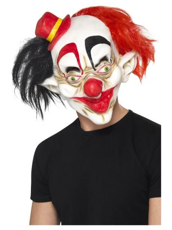 Creepy Clown Mask, Black & Red